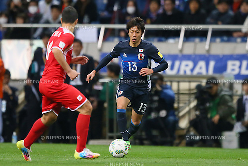Hiroshi Kiyotake (JPN), MARCH 29, 2016 - Football / Soccer : FIFA World Cup Russia 2018 Asian Qualifier Second Round Group E match between Japan 5-0 Syria at Saitama Stadium 2002, Saitama, Japan. (Photo by YUTAKA/AFLO SPORT)