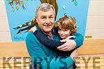 Ben Walsh giving granddad Paudi McKenna a big hug at the Grandparents Day in St Brendans NS in Blennerville on Friday