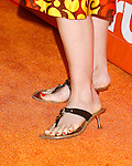 Actress Sarah Clarke 's shoes at the Turner Broadcasting TCA Party at The Oasis Courtyard at The Beverly Hilton Hotel on July 11, 2008 in Beverly Hills, California.