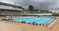 SAO PAULO, SP, 09 DE JANEIRO 2012. ABERTURA PROGRAMA RECREIO NAS FÉRIAS. Criancas aproveitando a piscina, na abertura do programa Recreio nas Férias, no Céu Caminho do Mar, no bairro do Jabaquara, regiao sul de SP, na manha desta segunda-feira, 9. FOTO MILENE CARDOSO - NEWS FREE