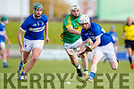 Ricky Heffernan Lixnaw in action against Seamus Skinner St. Brendans in the Senior County Championship Semi Finals at Austin Stack Park on Sunday.