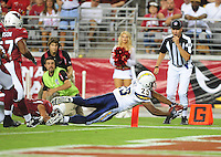 Aug. 22, 2009; Glendale, AZ, USA; San Diego Chargers running back (29) Michael Bennett dives into the end zone for a touchdown in the second quarter against the Arizona Cardinals during a preseason game at University of Phoenix Stadium. Mandatory Credit: Mark J. Rebilas-