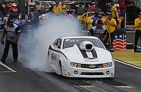 May 11, 2013; Commerce, GA, USA: NHRA pro stock driver Shane Gray during the Southern Nationals at Atlanta Dragway. Mandatory Credit: Mark J. Rebilas-