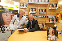 NO REPRO FEE.8/10/2011. Eason, Ireland's leading retailer of books, stationery, magazines and lots more, hosted a book signing by Jockey, Paul Carberry.  Pictured at Eason, O'Connell Street, Dublin is fan Mureal Carey from Cabra and Paul Carberry who signed copies of his new autobiography One Hell of a Ride. Follow Eason on Twitter - @easons For further information, please contact: Aoife McDonald WHPR 087 4100777 . Picture James Horan/Collins Photos