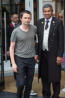 Matthew Bellamy & girlfriend coming out of their hotel in Brussels - Exclusive - Belgium