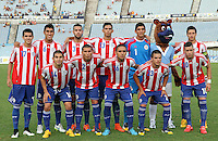 MONTEVIDEO - URUGUAY - 27-01-2015: Los jugadores de Paraguay, posan para una foto durante partido del Sudamericano Sub 20 entre los seleccionados de Colombia y Paraguay en el estadio Centenario de la ciudad de Montevideo. / The players of Paraguay, pose for a photo during the match for the Sudamericano U 20 between the teams of Colombia and Paraguay in the Centenario stadium in Montevideo city,  Photo: Andres Gomensoro  / Photosport / VizzorImage.