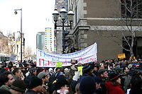 Montreal's Muslims peacefully protest againt the publication of offending caricatures in a Danish newspaper.February 11 2006<br /> Photo : (c) 2006 by Pierre Roussel/ IMAGES DISTRIBUTION