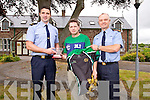 Garda Eion Donovan made a presentation to  Marcus Howlett, Tralee International Marathon, on behalf of the Members and Staff of An Garda Siochana in appreciation for everything he has done in connection with Tralee International Marathon and for involving the Gardaí in it. on Thursday. Pictured Garda Eion Donovan, Tralee, Marcus Howlett, Tralee International Marathon, Chief Superintendent Pat O'Sullivan, Tralee