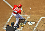 17 June 2012: Washington Nationals outfielder Michael Morse in action against the New York Yankees at Nationals Park in Washington, DC. The Yankees defeated the Nationals 4-1 to sweep their 3-game series. Mandatory Credit: Ed Wolfstein Photo