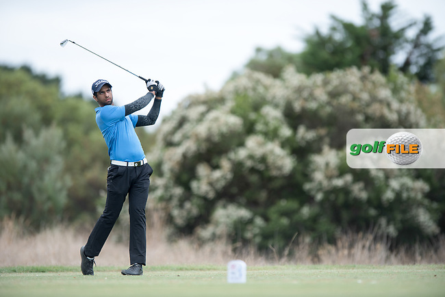 Aaron Rai (ENG) during the 2nd round of the VIC Open, 13th Beech, Barwon Heads, Victoria, Australia. 08/02/2019.<br /> Picture Anthony Powter / Golffile.ie<br /> <br /> All photo usage must carry mandatory copyright credit (© Golffile | Anthony Powter)
