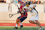 Mission Viejo, CA 05/11/11 - Sean Feeney (Foothill-Santa Ana #47) and Mitchel Pok (St Margaret #5) in action during the St Margaret-Foothill boys varsity lacrosse game at Mission Viejo High School for the 2011 CIF Southern Section South Division Championship.  Foothill defeated St Margaret 15-10.