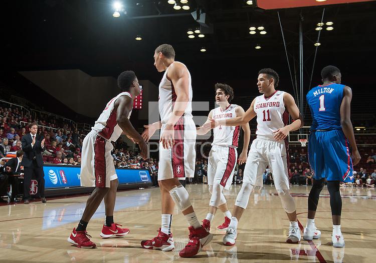 Stanford, Ca - Thursday, November 19, 2015: Stanford Men's Basketball vs SMU at Maples Pavilion.