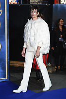 LONDON, UK. November 13, 2018: Ezra Miller at the &quot;Fantastic Beasts: The Crimes of Grindelwald&quot; premiere, Leicester Square, London.<br /> Picture: Steve Vas/Featureflash