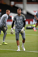 4th July 2020; Craven Cottage, London, England; English Championship Football, Fulham versus Birmingham City; Goalkeeper Marcus Bettinelli of Fulham during wamr up