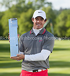 Rory McIlroy (NIR) with the trophy after winning the BMW PGA Championship 2014  Wentworth  25th May 2014 and <br /> Photo: Richard Washbrooke Sports Photography<br /> <br /> BMW PGA Championship 2014  Wentworth  25th May 2014<br /> Photo: Richard Washbrooke Sports Photography