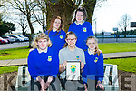 County Kerry Girls Scondary Schools Cricket Challenge winners  front l-r Gráinne Spillane, Olga O'Sullivan, Katie O'Connor, Back l-r Shanora O'Riordan and Rachel O'Sullivan