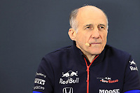 1st November 2019; Circuit of the Americas, Austin, Texas, United States of America; Formula 1 United Sates Grand Prix, practice day; Franz Tost, Team Principal of Scuderia Toro Rosso - Editorial Use
