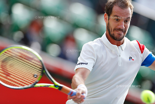Richard Gasquet (FRA), <br /> OCTOBER 5, 2017 - Tennis : <br /> Rakuten Japan Open Tennis Championships 2017 <br /> Singles 2nd round match <br /> at Ariake Coliseum, Tokyo, Japan. <br /> (Photo by Yohei Osada/AFLO SPORT)