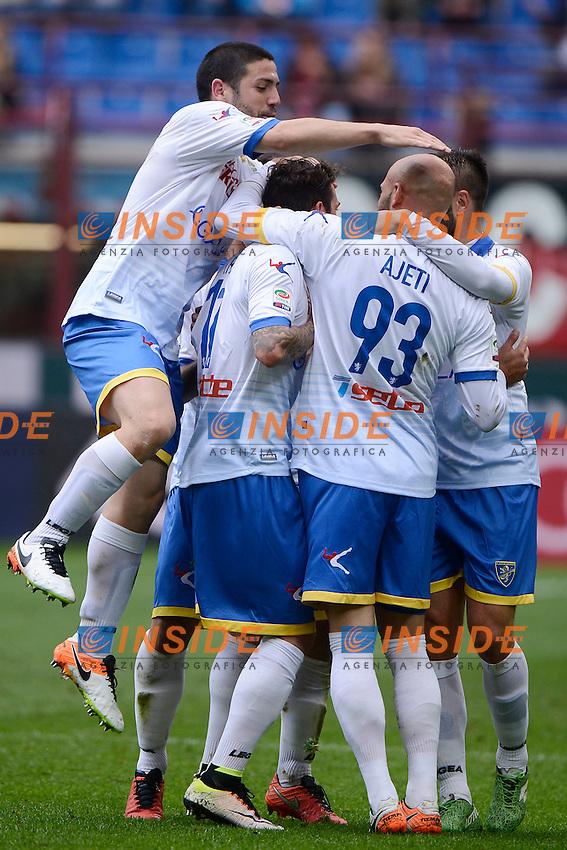Esultanza gol di Oliver Kragl Frosinone 0-2. Celebration goal<br /> Milano 01-05-2016 Stadio Giuseppe Meazza - Football Calcio Serie A Milan - Frosinone. Foto Giuseppe Celeste / Insidefoto