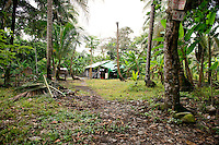 Turtle egg poachers´huts. Costa Rica Wildlife Sanctuary run by Vanessa Lizano and her family. Moin, Limon, Costa Rica.
