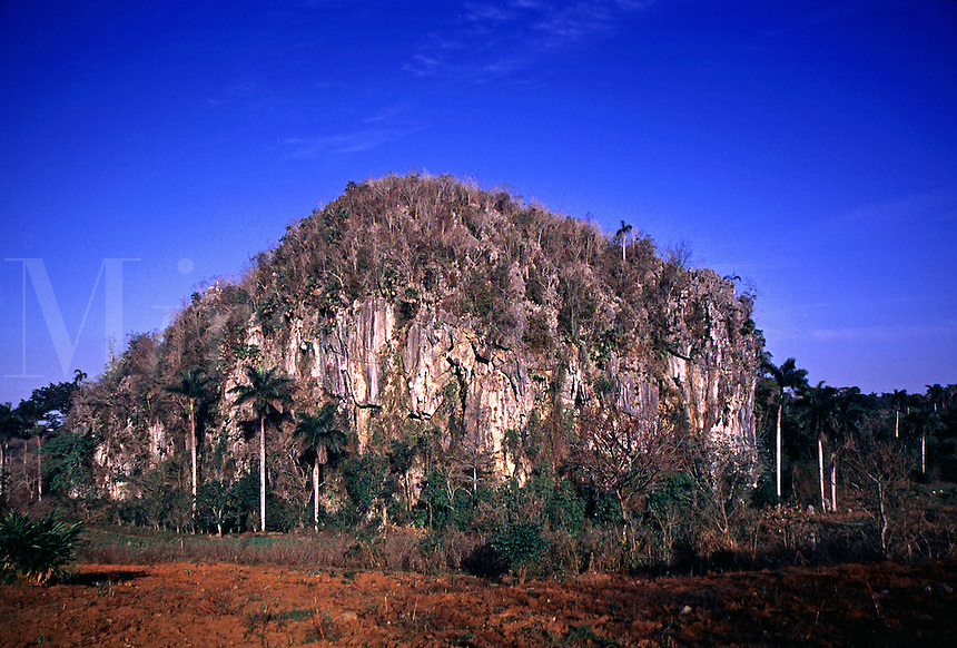 Mogotes are limestone formations found in the Vinales Valley of Cuba. Mogote. Pinar del Rio Cuba Vinales Vally.