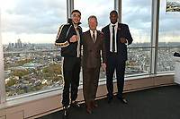 Tommy Fury (L), Frank Warren and Daniel Dubois during a Press Conference at the BT Tower on 11th November 2019