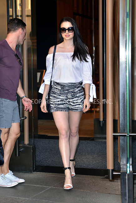 WWW.ACEPIXS.COM<br /> <br /> September 11 2015, New York City<br /> <br /> TV personality Emma Miller leaves a downtown hotel on September 11 2015 in New York City<br /> <br /> By Line: Curtis Means/ACE Pictures<br /> <br /> <br /> ACE Pictures, Inc.<br /> tel: 646 769 0430<br /> Email: info@acepixs.com<br /> www.acepixs.com