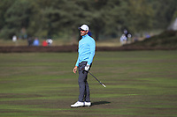 Alexander Bjork (SWE) on the 2nd fairway during Round 3 of the Sky Sports British Masters at Walton Heath Golf Club in Tadworth, Surrey, England on Saturday 13th Oct 2018.<br /> Picture:  Thos Caffrey | Golffile