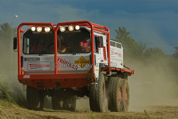 MAN Kat 6x6 rallye truck racing at the Rallye Dresden Breslau 2007. --- No releases available. Automotive trademarks are the property of the trademark holder, authorization may be needed for some uses.