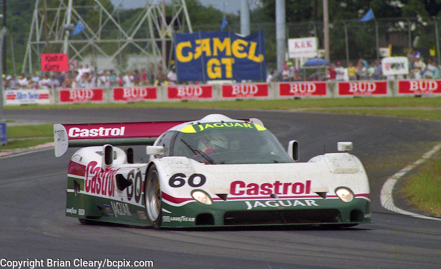 The #60 Castrol Jaguar Racing Jaguar XJR-10 of Davy Jones races to a 12th place finish in the Nissan World Challenge of Tampa,  Florida State Fairgrounds, September 1990. (Photo by Brian Cleary/www.bcpix.com)