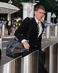 Chris Killen arrives at Glasgow airport for flight to Tel Aviv