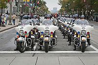 Toronto Police motorcycle is seen during a police memorial parade in Ottawa Sunday September 26, 2010.