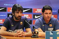 5.06.2012 Barcelona. Rueda de prensa de presentacion playoff final liga ACB. Juan Carlos Navarro y Xavi Pascual