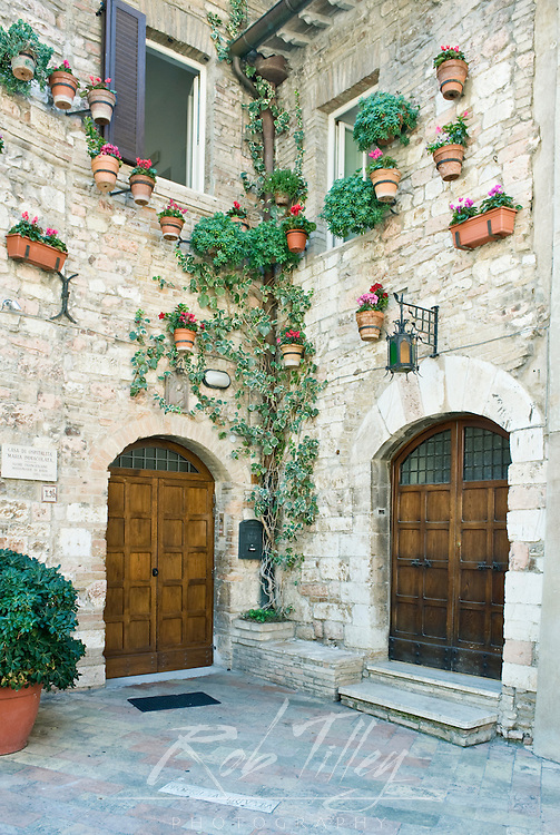 Europe, Italy, Umbria, Assisi, Old World House