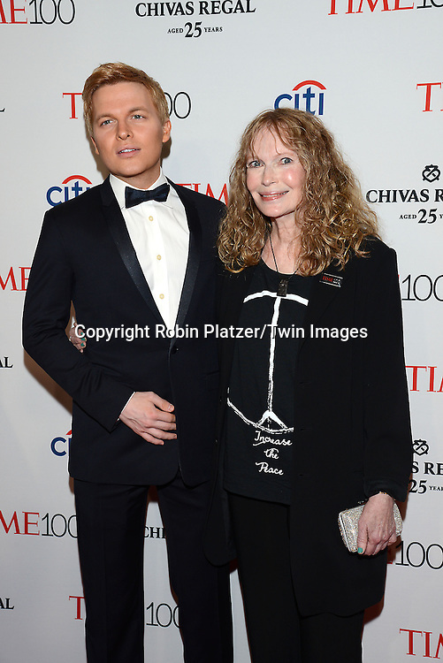 Ronan Farrow and his mother Mia Farrow attend the TIME 100 Issue celebrating the 100 Most Influential People in the World on April 21, 2015 <br /> at Frederick P Rose Hall at Lincoln Center in New York City, New York, USA.<br /> <br /> photo by Robin Platzer/Twin Images<br />  <br /> phone number 212-935-0770
