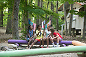 Camp Kaleidoscope (aka Camp K): a tuition-free camp for children with chronic medical conditions treated at Duke, on Kerr Lake. Counselors are faculty, residents, fellows, students, nurses, social workers, PharmD's, physical therapists, child life specialists, and respiratory therapists. The 'sleep away' camp is held over three weeks in July - 7-10 year-olds enjoy the first week of camp in the photos.