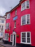 ENGLAND, Brighton, a Bright Red House