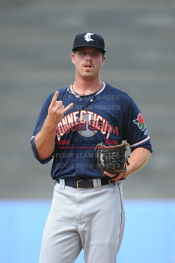 Connecticut Tigers pitcher Buck Farmer (30) during game against the Staten Island Yankees at Richmond County Bank Ballpark at St.George on July 7, 2013 in Staten Island, NY.  Staten Island defeated Connecticut 6-2.  (Tomasso DeRosa/Four Seam Images)