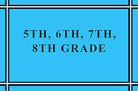 5th, 6th, 7th, 8th Grade Sports