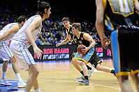 GRONINGEN - Basketbal, Donar - Den helder Suns, Martiiniplaza,  kwartfinale playoff, seizoen 2018-2019,  30-04-2019,  <br /> Den Helder speler Boyd van der Vuurst de Vries op weg naar de basket