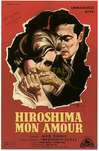 ORIGINAL FRENCH POSTER ART<br /> in Hiroshima Mon Amour (1959) <br /> *Filmstill - Editorial Use Only*<br /> CAP/FB<br /> Image supplied by Capital Pictures