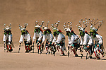 Tewa deer dancers, San Ildefonso Pueblo, New Mexico, USA<br /> <br /> Noncommercial licensing only.