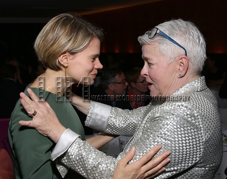 Celia Keenan-Bolger and Paula Vogel attends the Broadway Opening Night After Party for  'Indecent' at Bryant Park Grill on April 18, 2017 in New York City.
