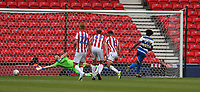 Queens Park Rangers' Eberechi Eze scores scores his side's second goal <br /> <br /> Photographer Stephen White/CameraSport<br /> <br /> The EFL Sky Bet Championship - Stoke City v Queens Park Rangers - Saturday 3rd August 2019 - bet365 Stadium - Stoke-on-Trent<br /> <br /> World Copyright © 2019 CameraSport. All rights reserved. 43 Linden Ave. Countesthorpe. Leicester. England. LE8 5PG - Tel: +44 (0) 116 277 4147 - admin@camerasport.com - www.camerasport.com