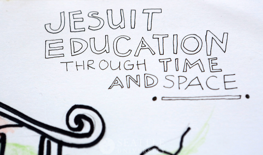 12092014- Jesuit Education through Time and Space - student drawing by Jessica Gomez