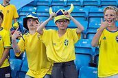 June 1th 2017, Ullevaal Stadion, Oslo, Norway; International Football Friendly 2018 football, Norway versus Sweden; fan show their support before the international football