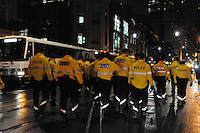 November 23, 2011, Toronto Police in significant numbers deploy during the predawn hours this morning, beginning the process of evicting the Occupy Toronto tent camp from St. James Park.