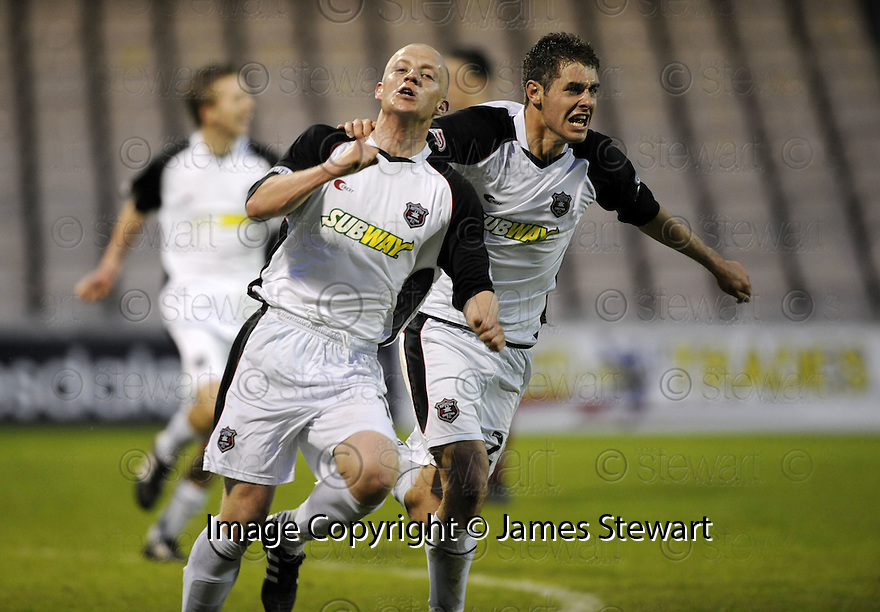 13/05/2008   Copyright Pic: James Stewart.File Name : sct_jspa08_gretna_v_hearts.GAVIN SKELTON CELEBRATES SCORING GRETNA'S GOAL.James Stewart Photo Agency 19 Carronlea Drive, Falkirk. FK2 8DN      Vat Reg No. 607 6932 25.Studio      : +44 (0)1324 611191 .Mobile      : +44 (0)7721 416997.E-mail  :  jim@jspa.co.uk.If you require further information then contact Jim Stewart on any of the numbers above........