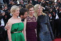 KARIN VIARD, EDOUARD BAER, EMMANUELLE DEVOS AND SANDRINE KIBERLAIN - RED CARPET OF THE 70TH ANNIVERSARY CEREMONY AT THE 70TH FESTIVAL OF CANNES 2017