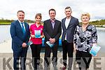 Launching the Tralee by the Sea brochure at the Tralee Bay Wetlands Centre on Tuesday. <br /> L to r: Patrick Carmody, Mags O'Sullivan (Aquadome), Declan Dowling (Greyhound Track), Nathan McDonnell (Ballyseedy Home and Gardens) and Mary O'Connell (Tralee Bay Wetlands).
